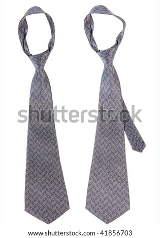 Ties isolated on white background - stock photo