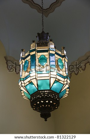 tiffany lamp - stock photo