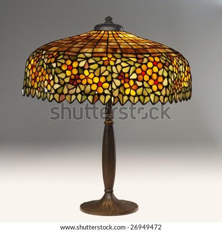tiffany table lamp - stock photo