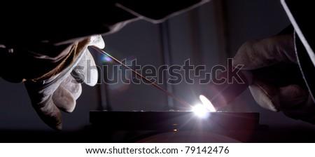 Tig welding - stock photo