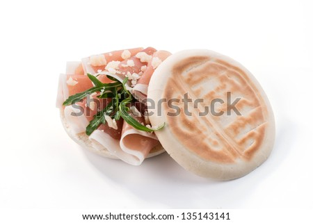 Tigelle with ham and lard