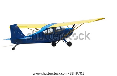 Tiger Cub Glider Tow Plane with tow rope - stock photo