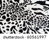 Tiger  fabric texture - stock photo