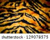 tiger leather texture with black and yellow colors - stock photo