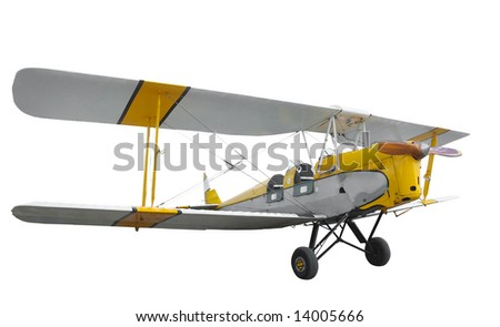 Tiger Moth isolated with clipping path - stock photo