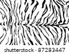 tiger pattern skin - stock vector
