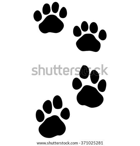 tiger paw print animal footprint front stock vector
