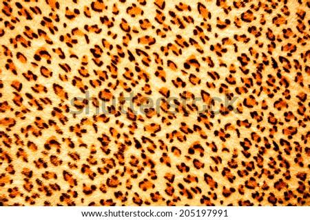 tiger skin - design fabric pattern hair leopard animal wildlife - stock photo