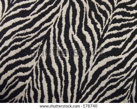 Tiger stripe fabric - stock photo