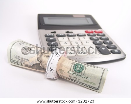 Tighten Budget Calculator - stock photo