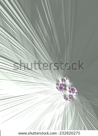 Tightening the knot - fuchsia ornamental abstract knot on white fractal design background - stock photo