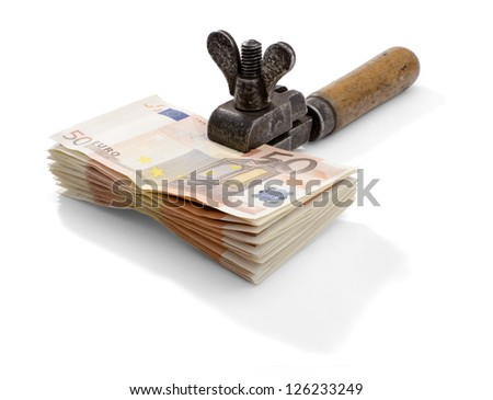 Tightening up on your money. Euro banknotes