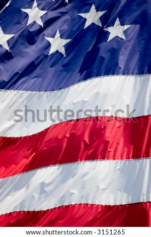Tightly cropped photo of the flag of the United States. - stock photo