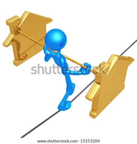 Tightrope Realty - stock photo