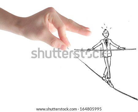Tightrope Walker - stock photo