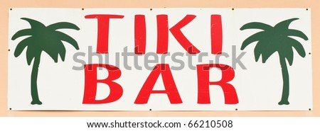 Tiki Bar Sign - stock photo