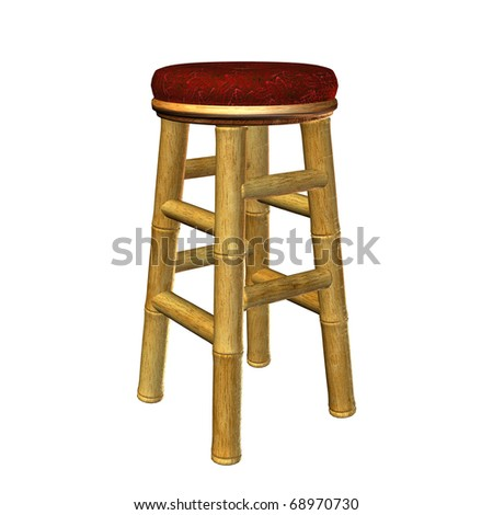Tiki bar stool illustration on a white background