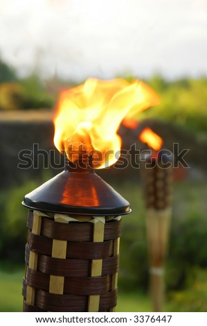 Tiki torches - stock photo