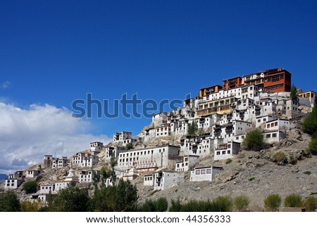 Tikse monastery in India - stock photo