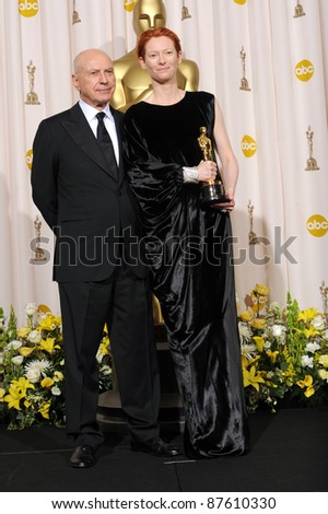 Tilda Swinton & Alan Arkin at the 80th Annual Academy Awards at the Kodak Theatre, Hollywood. February 24, 2008 Los Angeles, CA Picture: Paul Smith / Featureflash