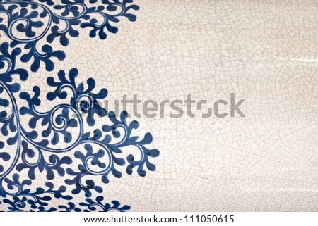 Tile background texture of antique ornament with grunge effect - stock photo