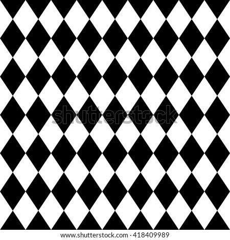 Tile black and white background pattern