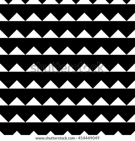 Tile black and white triangle pattern or website background