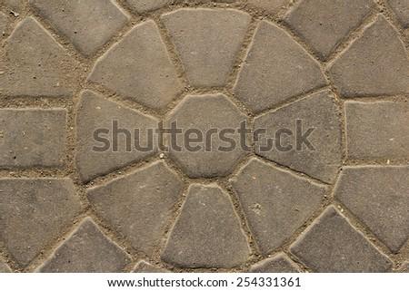 Tile bricks background - stock photo
