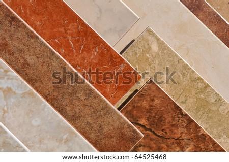 Tile Floor Sample - stock photo