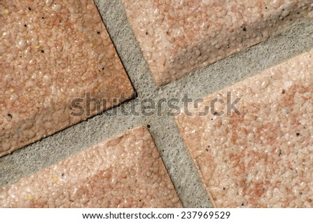 tile joint close up - stock photo