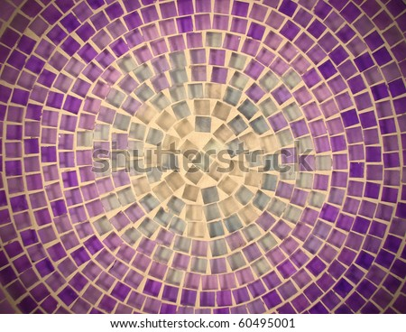 tile mosaic design background pattern - stock photo