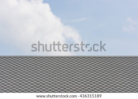 tile on the roof on sky background,Colonial style - stock photo