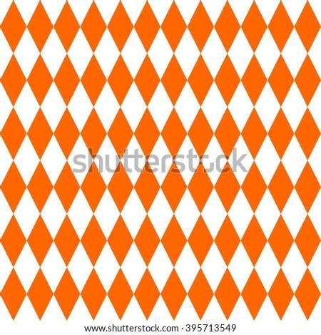 Tile orange pattern - stock photo