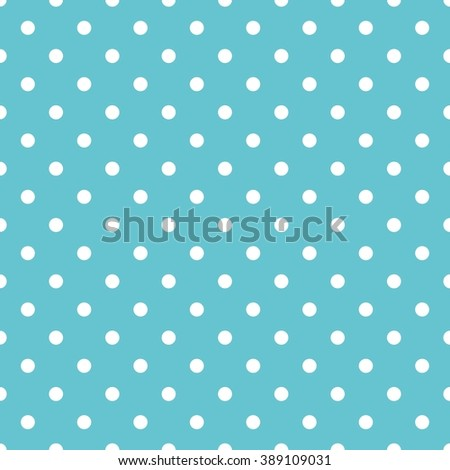 Tile pastel pattern with white polka dots on mint green background