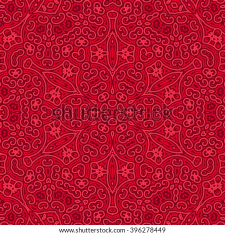 Tile. Pattern from ornamental elements. Oriental Pattern Design. Can be used for wallpaper, pattern fills, web page background,surface textures.