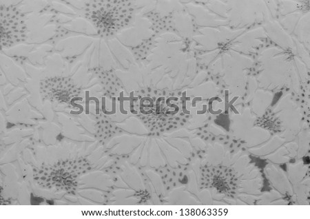 Tile pattern white flowers for background usage