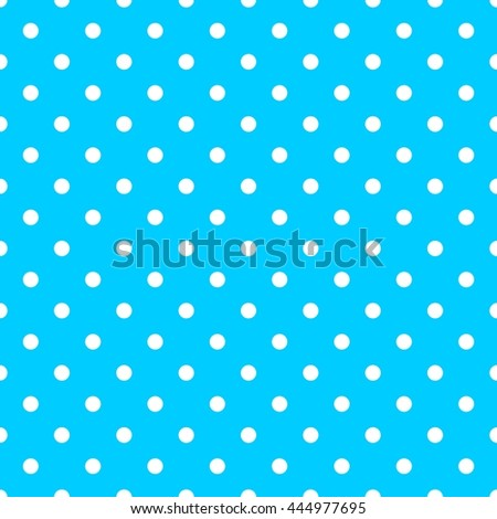 Tile pattern with white polka dots on blue background