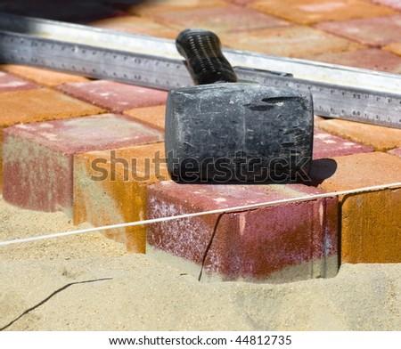 tile paving - stock photo