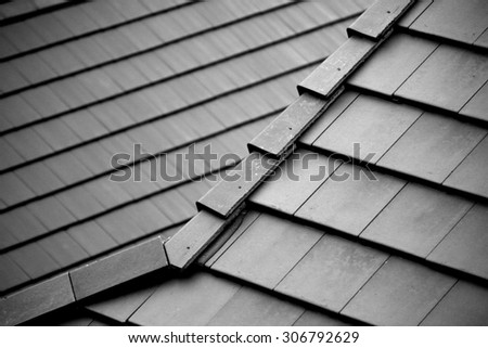 Tile roof backgroung & texture - stock photo
