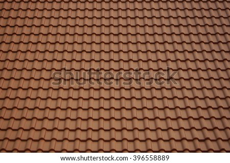 Tile roof of Buddhist temple. - stock photo