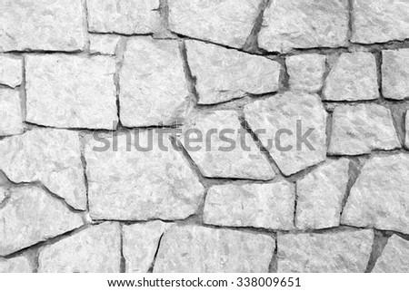 tile stone wall  - illustration based on own photo image - stock photo