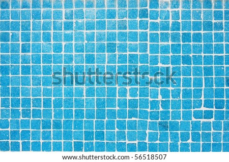 tile texture background of bathroom or swimming pool tiles on wall - stock photo