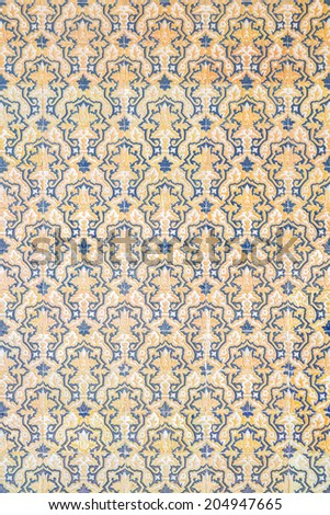 tile wall royal gothic background - stock photo