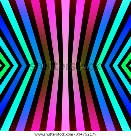Tileable converging multicolored graduated stripes. - stock photo