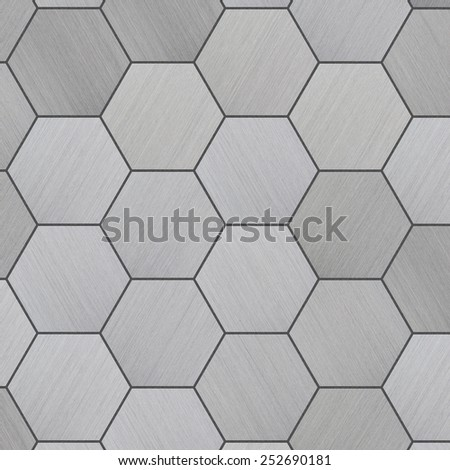 Tiled Aluminum Background - stock photo