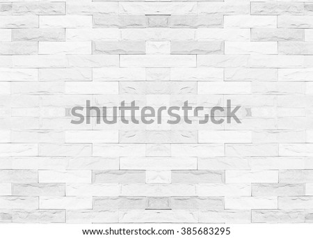 Tiled brick wall in light white color tone texture background for interiors designhome, house, building, shop, store, art, coffee shop, popular brick wall.Brick wall and tile texture. - stock photo