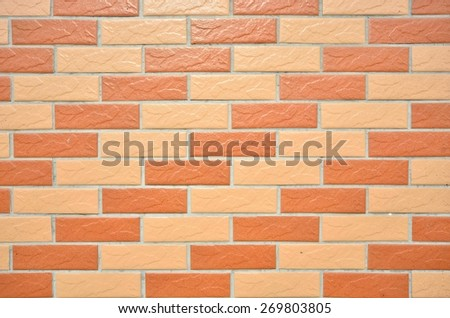 Tiled brick wall texture background  - stock photo