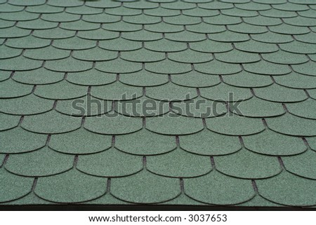 Tiled house roof
