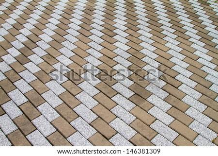 Tiled Pavement  - stock photo