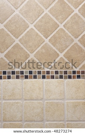 tiled wall - stock photo